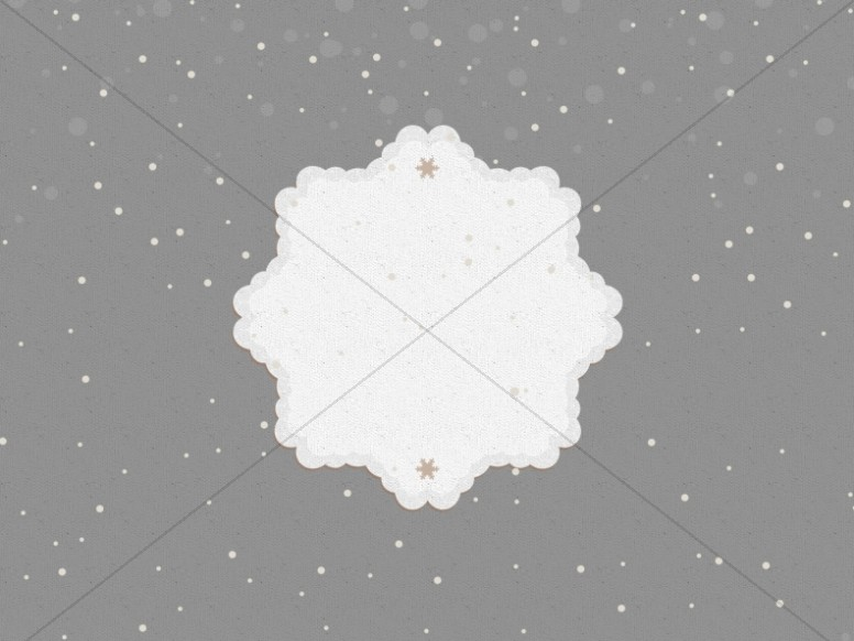 You Are Invited To Christmas Snowflake Worship Background