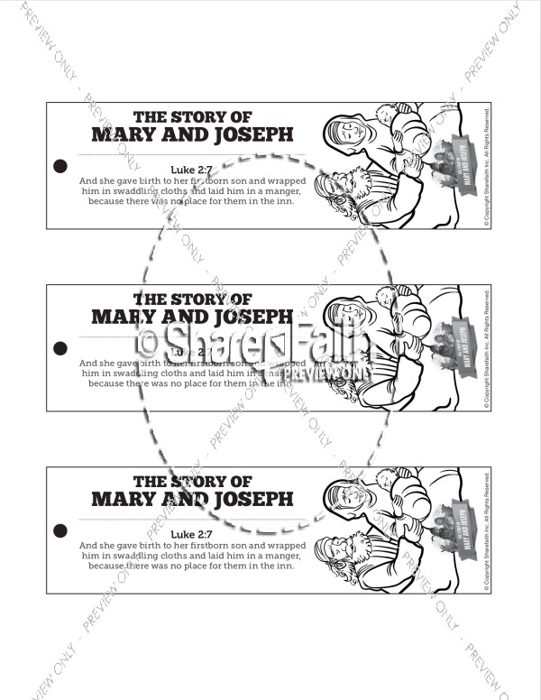 Luke 2 Mary and Joseph Christmas Story Bible Bookmarks