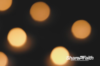 Flickering Christmas Candlelight Worship Video