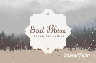 You Are Invited To Christmas Goodbye Motion Graphic