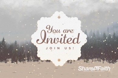 You Are Invited To Christmas Service Motion Graphic