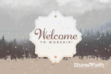 You Are Invited To Christmas Welcome Motion Graphic