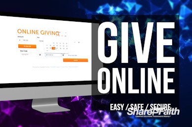 Online Giving Form Announcement Video
