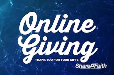 Online Giving Announcement Video Loop