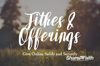 Tithes And Offering Announcement Video