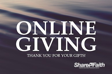 Online Giving Announcement Motion Graphic