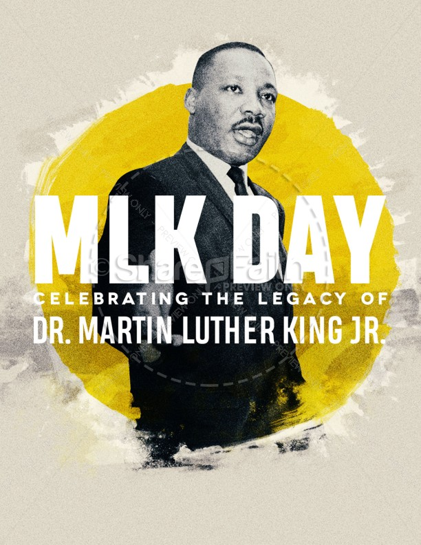 MLK Day Service Flyer Template
