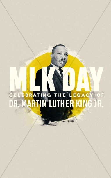 MLK Day Service Bulletin Template