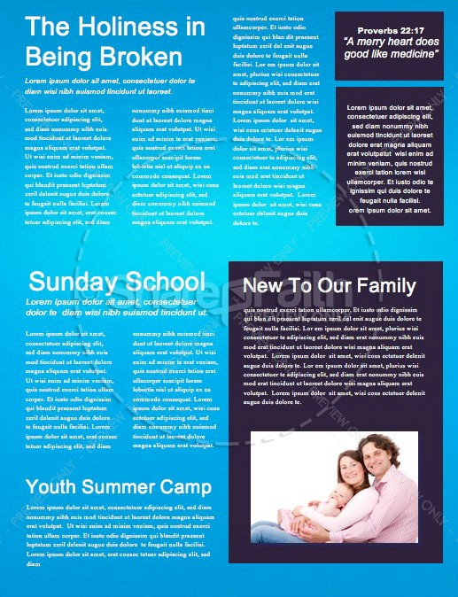 Shift Church Newsletter Template
