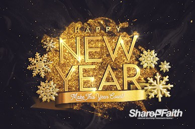 New Year's Eve Church Motion Graphic