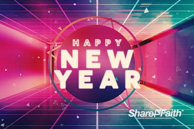 Happy New Year Modern Church Motion Graphic
