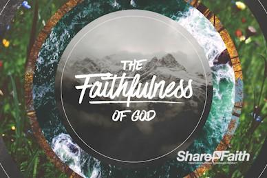 Faithfulness Of God Church Motion Graphic