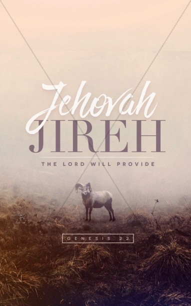 Jehovah Jireh The Lord Provides Church Bulletin Cover