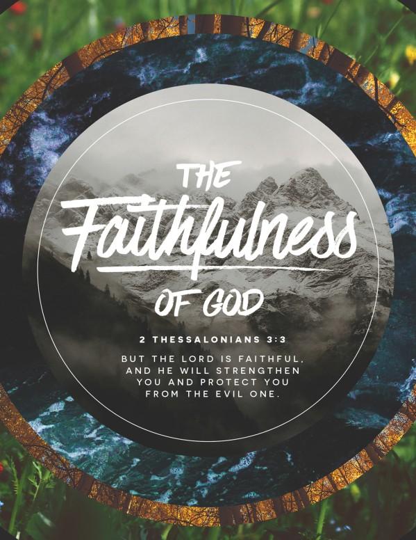 Faithfulness Of God Church Flyer Template