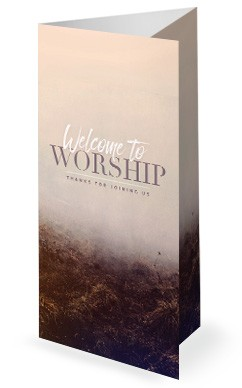 Jehovah Jireh The Lord Provides Church Trifold Bulletin Template