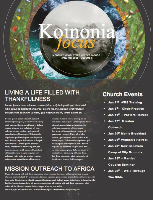 Faithfulness Of God Church Newsletter