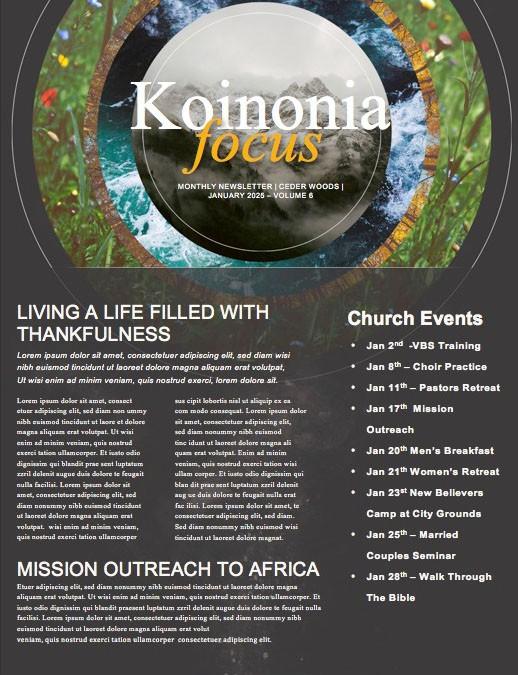Faithfulness Of God Church Newsletter