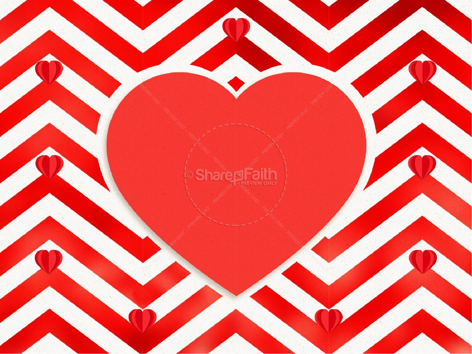 Valentine's Day Chevron Sermon Graphic | slide 7