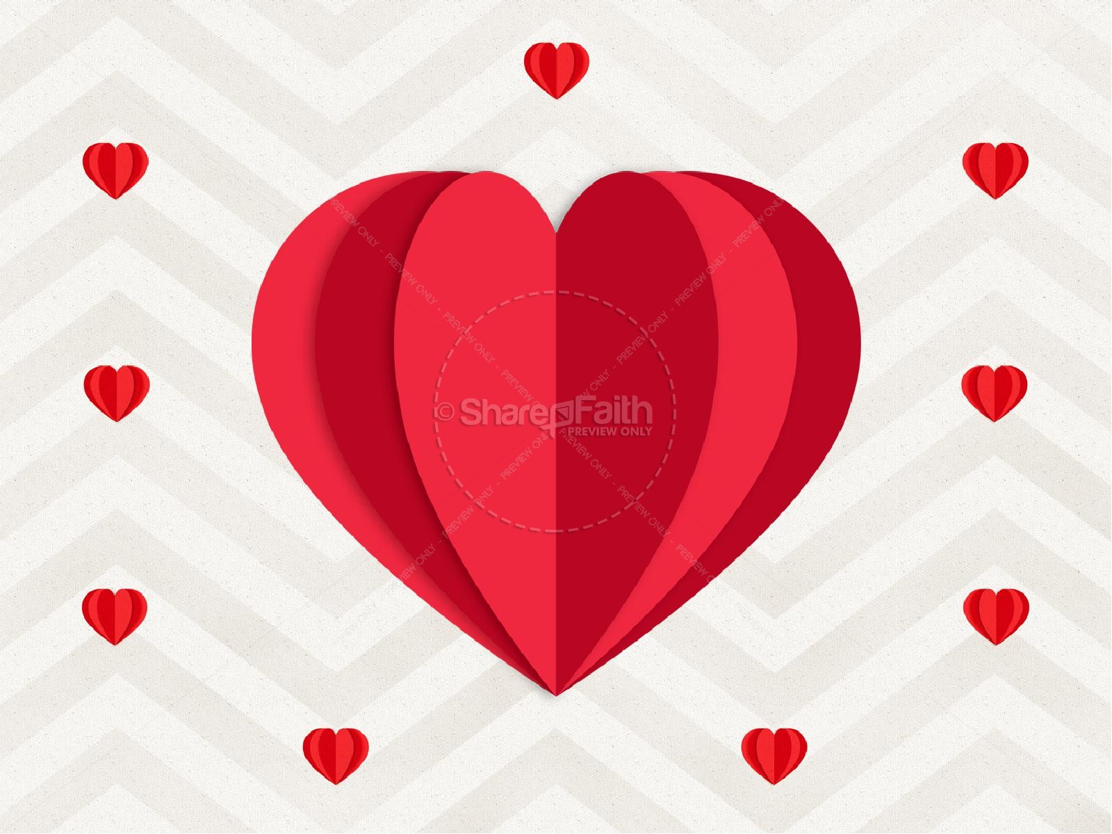 Valentine's Day Chevron Sermon Graphic | slide 9