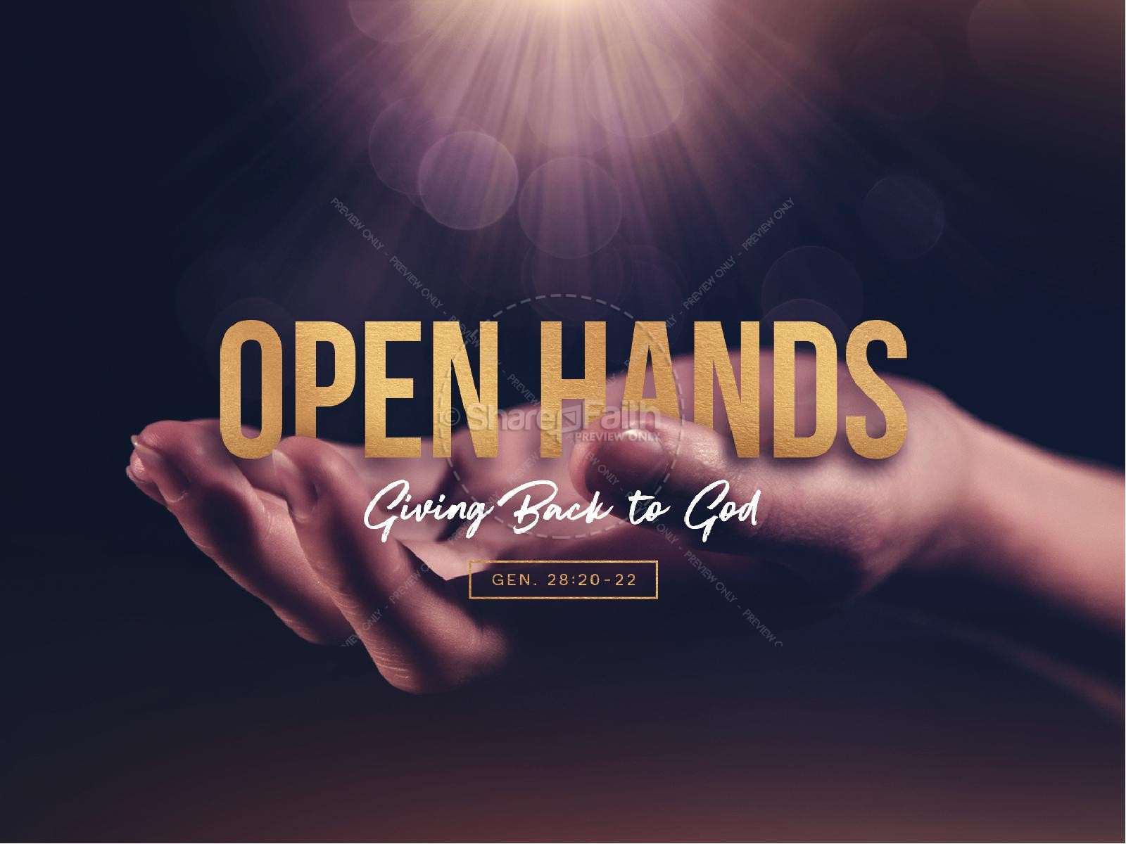 Open Hands Tithing Sermon PowerPoint