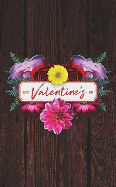 Valentine's Day Floral Church Bulletin