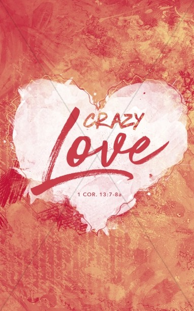 Crazy Love Church Bulletin Template