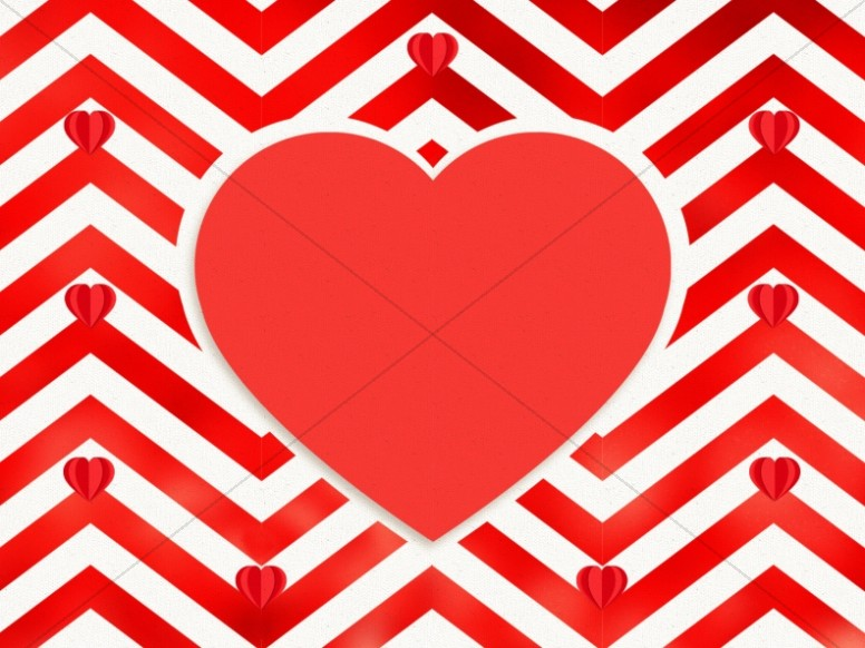 Valentine's Day Chevron Church Worship Background