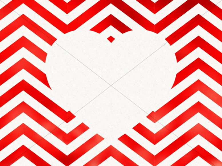 Valentine's Day Chevron Heart Cutout Background