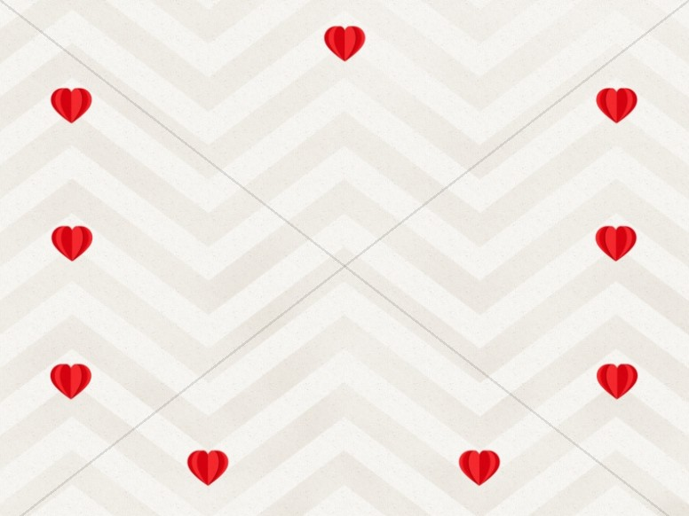 Paper Hearts Valentine's Day Worship Background