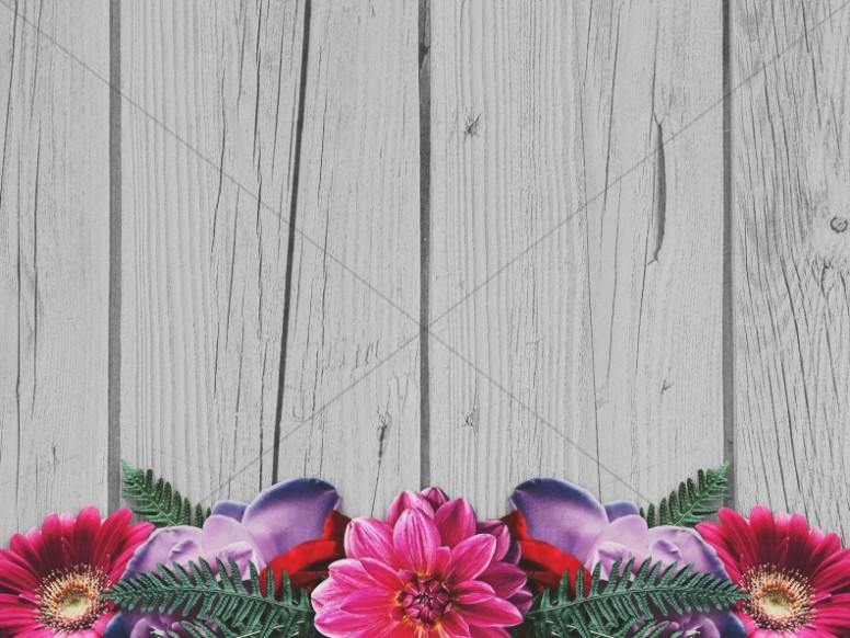 Valentine's Day Floral Church Worship Background