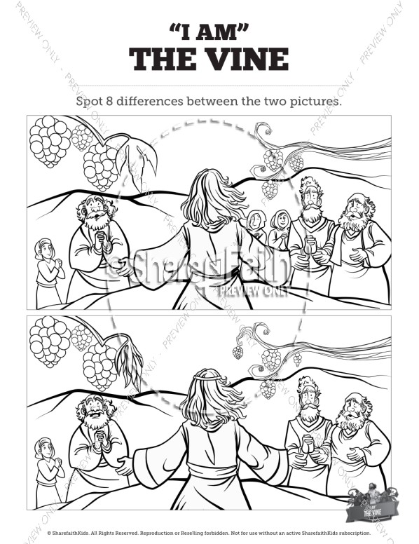 John 15 I Am The Vine Kids Spot the Differences