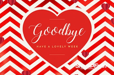 Valentine's Day Chevron Goodbye Motion Graphic