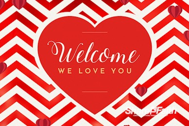 Valentine's Day Chevron Welcome Motion Graphic