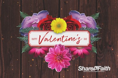 Valentine's Day Floral Church Motion Graphic