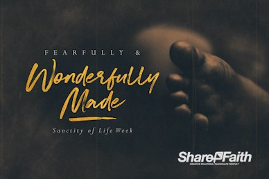 Fearfully & Wonderfully Made Church Motion Graphic