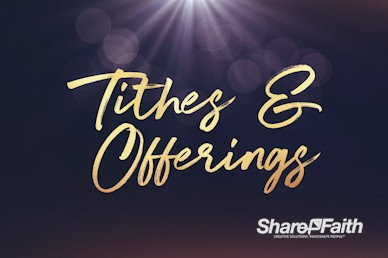 Open Hands Tithes And Offering Church Video