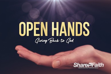 Open Hands Tithing Church Giving Motion Graphic