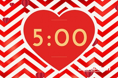 Valentine's Day Chevron Countdown Video