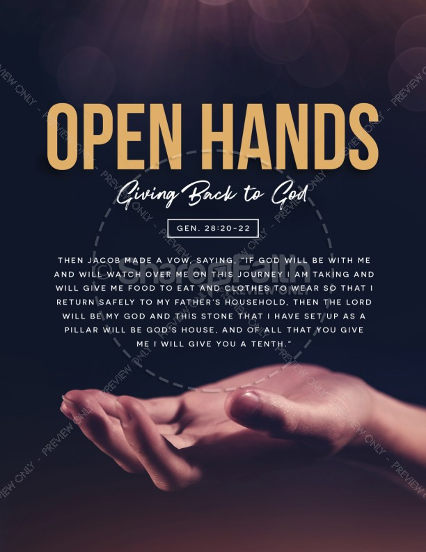 Open Hands Tithing Church Flyer