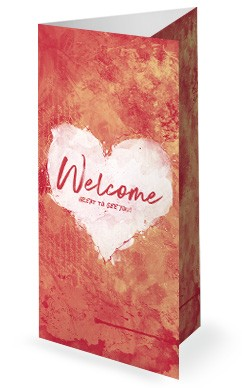 Crazy Love Church Trifold Bulletin Template