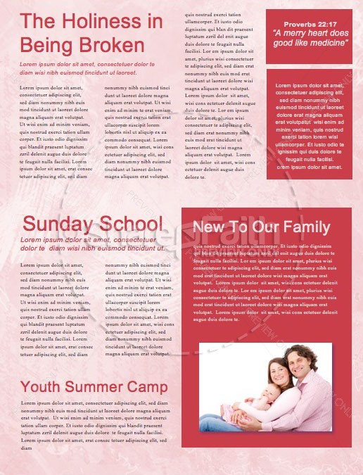 Crazy Love Church Newsletter Template