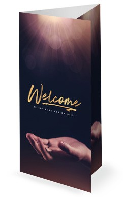 Open Hands Tithing Church Trifold Bulletin