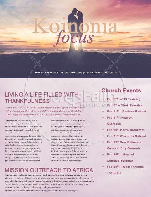 connected marriage retreat church newsletter template newsletter
