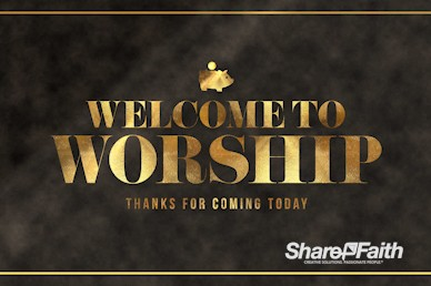 Financial Freedom Welcome To Worship Motion Graphic