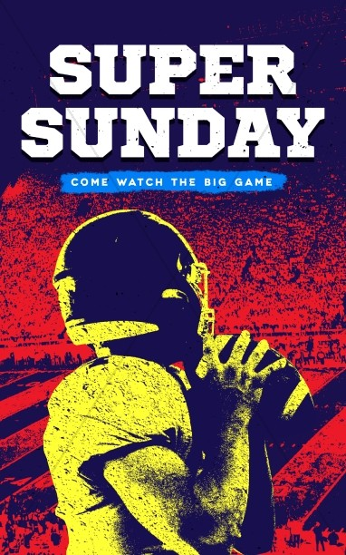 Super Sunday Football Church Bulletin