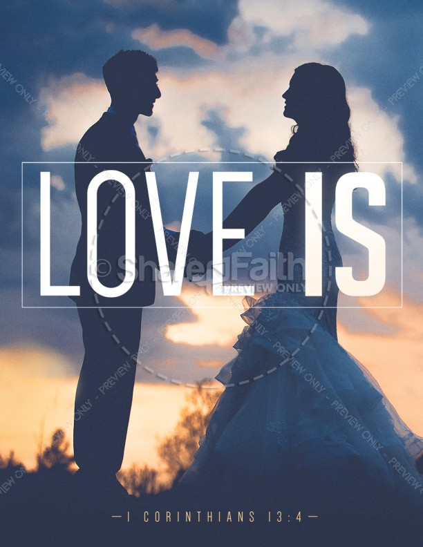 Love Is Bible Verse Church Flyer