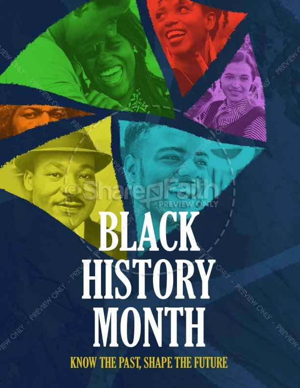 Black History Month February Church Flyer