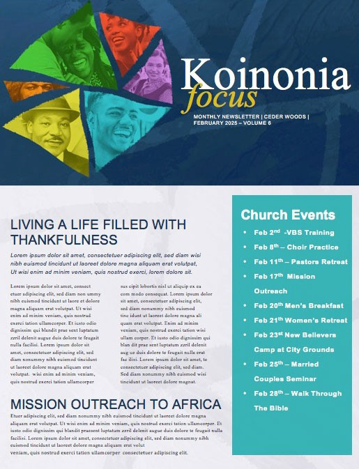 Black History Month February Church Newsletter