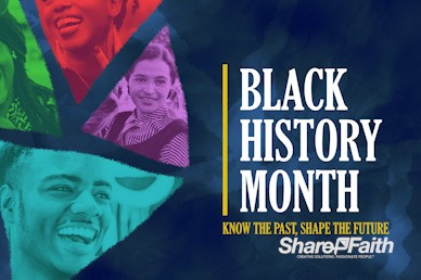Black History Month February Church Service Bumper Video