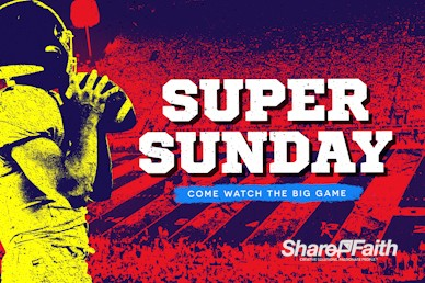 Super Sunday Football Church Motion Graphic